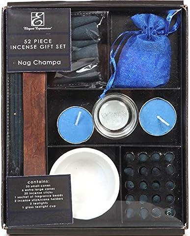 aromathérapie Hosley Lot de 52pièces très parfumée Nag Champa Ensemble cadeau
