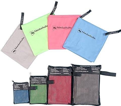 Pink Microfibre Travel Towel 30cm x 45cm from AdventureAustria -