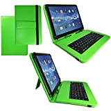 Teclado QWERTZ funda para tablet DELL lugar de celebración por 8 SMTV8P10FG26B 8.0 20,32 cm con función - en alemán de los botones de asignación de 20.32 cm verde