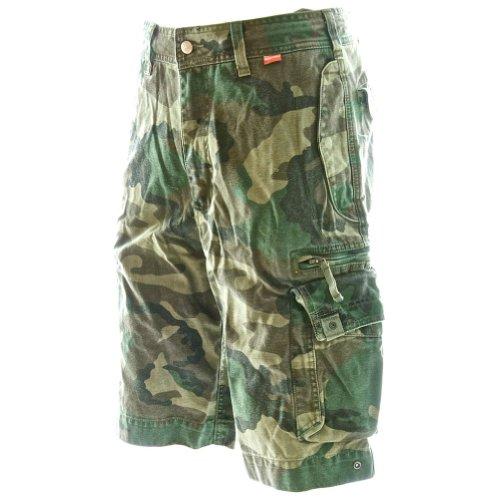 Pantaloncini Cargo da Spiaggia - Da Uomo Beach Bumpers 45020 - 100% Cotone, Qualità Eccellente Aria Aperta Multiuso Pantaloncini Corti Da Combattimento Camuffamento Foresta Europea