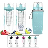 Botella de agua Bevgo frutas Infuser – grande 1 litro – ahorrar su - Best Reviews Guide
