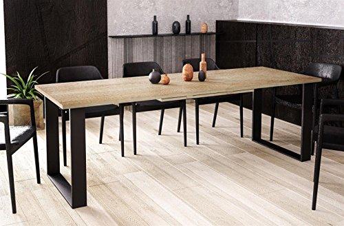 Kufentisch Esstisch Cora Eiche Monument ausziehbar 130cm - 210cm Küchentisch mit Kufen Design