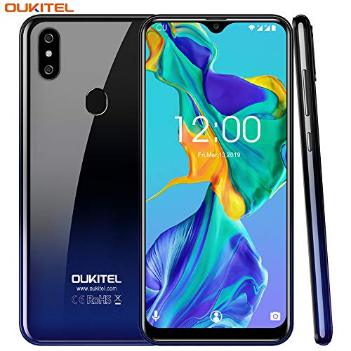 OUKITEL C15 pro Dual 4G SIM Smartphone ohne Vertrag,6.088 Zoll HD+ Waterdrop Display,Android 9.0,MT6761 Quad-core 2.0Ghz,2GB RAM+16GB ROM,8MP+2M+5MP Kameras,3200mAh,günstig Ultra dünn Handy (Gradient)