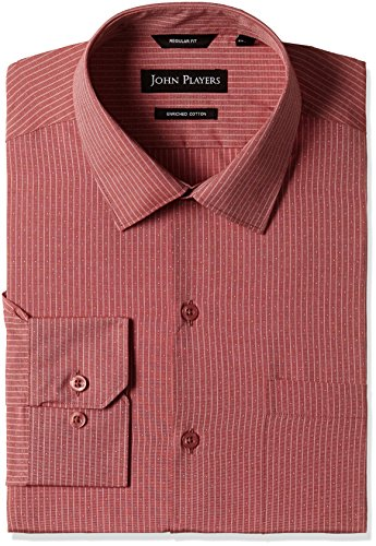 John Players Men's Formal Shirt (8902986947718_JFMWSHA160031006_46_Camelia)