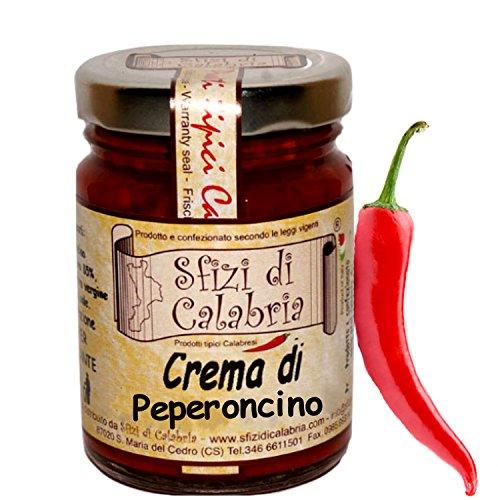 Peperoncino piccante calabrese a crema macinato in olio extravergine di oliva 90gr vaso in vetro originale dalla calabria