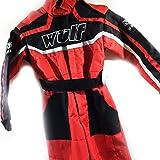 Kinder Kart Anzug WULFSPORT Kinder Hosen + Jersey MX ATV Quad Anzug (M (7-8 Jahre), Rot)