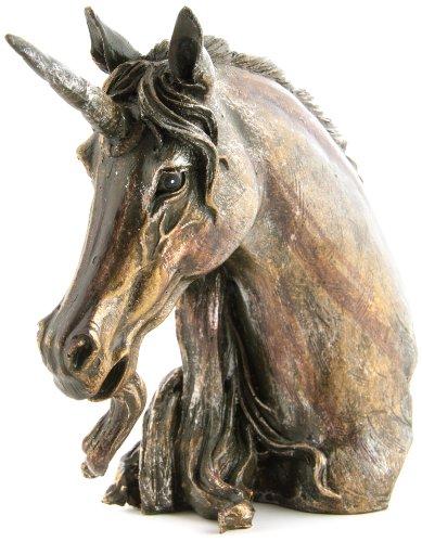 Berk-ZW-010-S-Zauberwelt-Einhorn-Bste-klein-bronzefarben