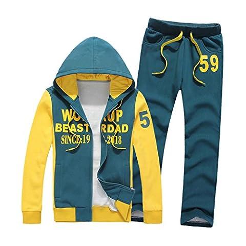 WALK-LEADER - Sweat-shirt à capuche - Personnage - Col Chemise Classique - Manches Longues - Homme - bleu - S