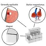 Magneti al neodimio, Aodoor Magneti forte magnete di terre rare per Frigoriferi, Uffici, Esperimenti Scientifici, barre, 5 x 5 x 5 mm (100 pezzi)
