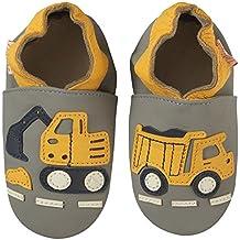 Tichoups chaussons bébé cuir souple bartholomé le chantier