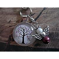 Handmade Schlüsselanhänger, Taschenanhänger Baum, mit Schutzengel