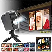 Halloween Christmas Projectors Lights, Window Wonderland Projector, LED12 Mode Landscape Projector Lamp for Home Outdoor Party