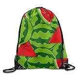 Pillow Socks Unisex Watermelon Drawstring Bags Backpack Pocket Bag Travel Sport Gym Bag Yoga Runner Daypack