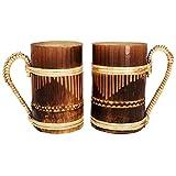 AZ Craft Tea-Coffee Bamboo Mug (Set Of 2) - B00VX6UQVS