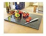 Groß Schwarz Küche Granit gesprenkelt Stein Schneidbrett Arbeitsflächenschutz.