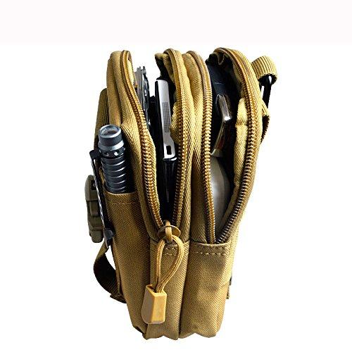 Bonace Taktische Tasche Bauchtasche Hüfttasche Gürteltasche Handytasche Tasche 11 CM*4 CM*17.5 CM (Schwarz) Tarnung-1