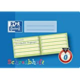 Oxford 100050105 School Learning to Write Notebook, A5, Lineature 0 (First Class) with Coloured Middle Strip A5 quer, 16 Blatt