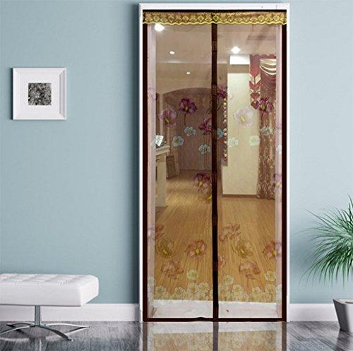 Moskito-Schirm-Fliegengitter-Tür-Magnetisches Gitter-Weiches Garn-Vorhang-Automatisches Schließen Einfach, Sommer-Ruhe Für Schlafzimmer-Kinderraum-Garten-Isolierungs-Moskito-Tür-Vorhang Zu Installieren,Brown (Tür Gitter Magnetische)