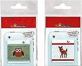Handy Putztücher im Set aus Microfaser - ca. 4,5 x 4,5 cm - Motiv: Weihnachten