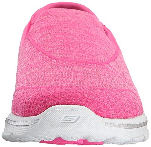 Skechers Damen Super Sock 3 Sneaker, Schwarz / Weiß Pink (Hpk)