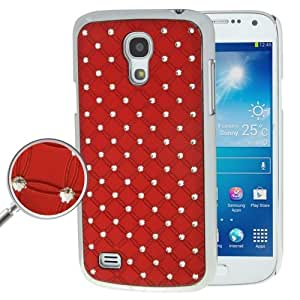 Luxury Bling Diamond Plating Skinning Plastic Case for Samsung Galaxy S IV mini / i9190 (Red)