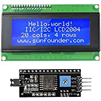 SunFounder 2004 20x4 LCD Module IIC I2C Interface Adapter Blue Backlight for Raspberry Arduino UNO R3 MEGA2560