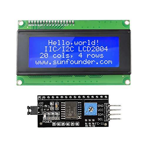 SunFounder IIC I2C TWI Serial 2004 20X4 LCD Module Shield for Arduino Uno Mega2560 (MEHRWEG) - 4 X Lcd-display