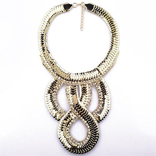 TWOPAGES toni oro, con pendente spesso catene ShalinIndia-Collana da donna
