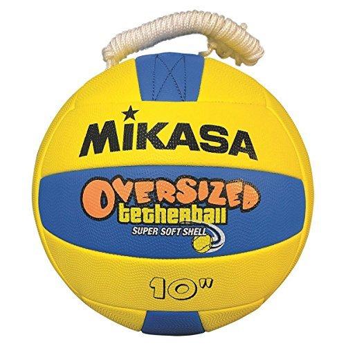 (Mikasa Übergroße Tetherball Übergroße Weiche Tetherball, Gelb/Blau, Übergroße–25,4cm Durchmesser)
