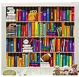 Ten-tailed fox Farbe Bücherregal Büro Schlafzimmer Vorhang Luxus Blackout 3D Fenster Vorhang Wohnzimmer Schmücken Vorhänge Rideaux Cortina Kissenbezug H210 * W280 cm
