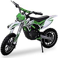 nuevo niña Mini Moto Cross Gazelle ELÉCTRICO 500 WATT inclusive reforzado Tenedor Moto Cross Dirtbike Bolsillo