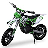 NEU Kinder Mini Crossbike Gazelle ELEKTRO 500 WATT Mini Bike inklusive verstärkter Gabel Dirt Bike Dirtbike Pocket Cross grün