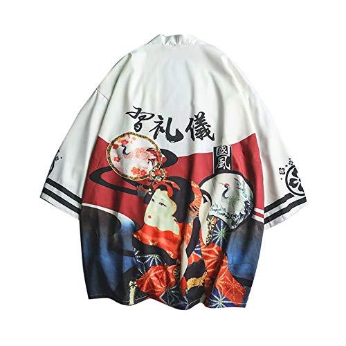 LaoZanA Hombres Vintage Japonés Kimono