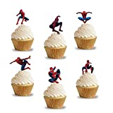 PARTY PROPZ SPIDERMAN THEME CUPCAKE TOPP...