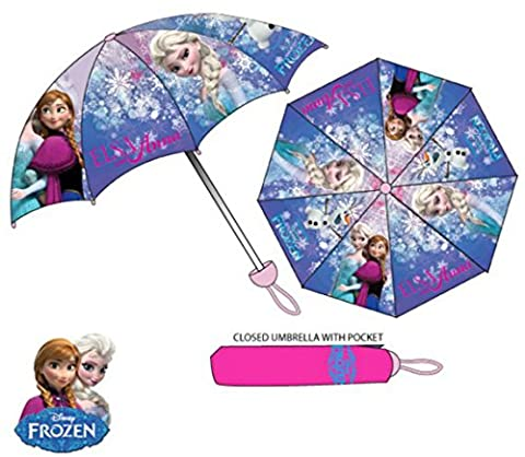 Girls Folding Umbrella With Sleeve Cover Disney Frozen