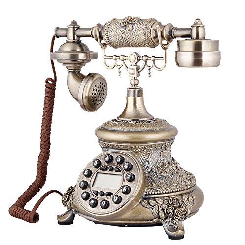 Petrichore Antik Radio kontinentalen grüne Patina Retro-Haushalt Vintage Festnetz Funktelefon (Antike Radios)