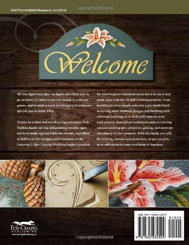 Lettering & Sign Carving Workbook: 10 Skill-building Projects for Carving and Painting Custom Signs