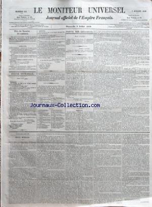 MONITEUR UNIVERSEL (LE) [No 184] du 03/07/1859 - SOMMAIRE â