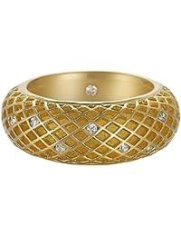 Esprit Damen-Ring 925 Sterling Silber rhodiniert Kristall Zirkonia Lattice pure gold weiß