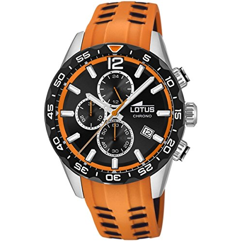 Lotus Mens Chronograph Quartz Watch with Silicone Strap 18590/1