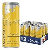 Red Bull Energy Drink Tropical 12 x 250 ml Dosen Getränke Yellow Edition 12er Palette