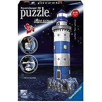 Ravensburger 3D Puzzle Big Ben Bei Nacht - 12588 / Dreidimensionales Puzzle im wunderschönen Nacht-Design mit LED-Beleuchtung / Ab 10 Jahre, 216 Teile