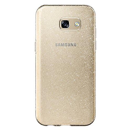 Funda Samsung Galaxy A5 2017, Spigen® [Liquid Crystal Glitter] **Brillante & Brillo** [Crystal Quartz] Premium TPU silicona / Antichoque / Adherencia exacta / brillante - Carcasa Fundas de silicona para galaxy a5 2017, a5 2017, samsung a5 2017 - (573CS21450)