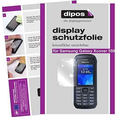 dipos I 6X Schutzfolie klar passend für Samsung Galaxy Xcover 550 Folie Bildschirmschutzfolie