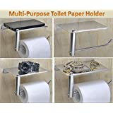 SPARTAN Stainless Steel Multipurpose Toilet Paper Holder