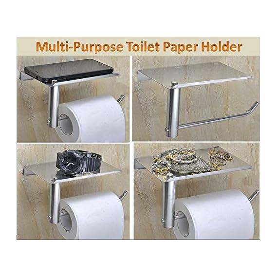 SPARTAN Stainless Steel Multipurpose Toilet Paper Holder