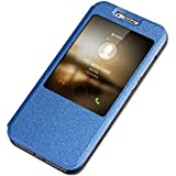 Prevoa ® 丨 Huawei G8 Funda - Original Flip PU View Funda Cover Case para Huawei G8 5,5 Pulgadas Android Smartphone - Darkblue