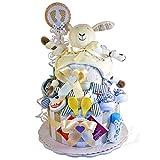 Gâteau de couches/Pampers gâteau> bébé cadeau pour fille et garçon dans un beau Beige//Cadeau pour la naissance, baptême, baby party//Cadeau Original et Pratique Pour Bébé