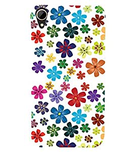 Fabcase beautiful flowers collection Designer Back Case Cover for HTC Desire 828 Dual Sim