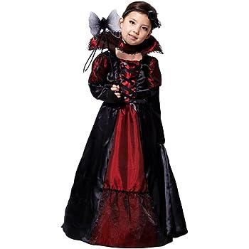 Tongchou Costume da Vampira Bambina Vestito Bambina Halloween Carnevale  Taglia M 42ecabd3cce0